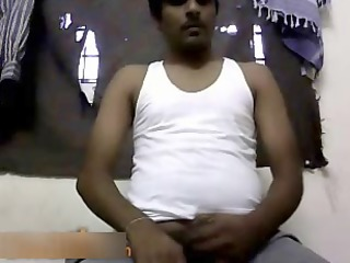 indian man wanks no cum